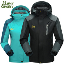 CavalryWalf Outdoor Waterproof Hiking Jackets For Women Men Climbing Rain Coat Camping Windbreaker Trekking Sport Jacket,AM007