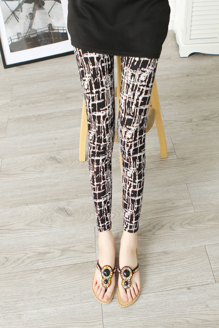 Leggings Hot Sell Womens Skull&flower Black Leggings Digital Print Pants Trousers Stretch Pants LG01