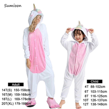 Boys Girls Pajamas Sets Pink Unicorn Pajamas For Women Onesie Adults Animal Panda Stitch Sleepwear Cosplay Winter Pyjamas Kids