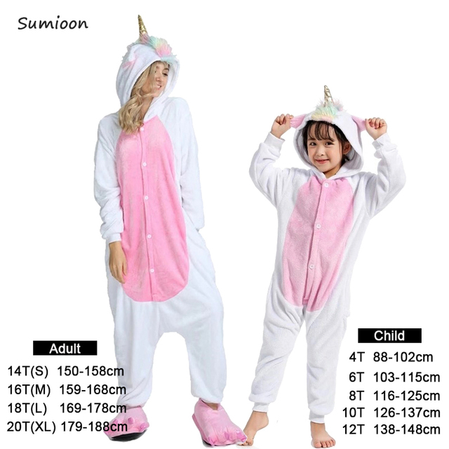bb1bf9ff4b Boys Girls Pajamas Sets Pink Unicorn Pajamas For Women Onesie Adults Animal  Panda Stitch Sleepwear Cosplay Winter Pyjamas Kids