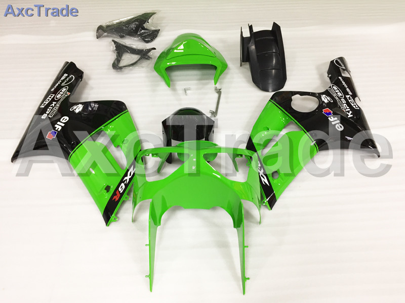 Motorcycle Fairings Kits For Kawasaki Ninja ZX6R 636 ZX-6R 2003 2004 03 04 ABS Plastic Injection Fairing Bodywork Kit Green A661 abs plastic motorcycle body fairing kits for kawasaki zx6r 1998 1999 orange green full fairings bodywork ninja 636 zx 6r 98 99