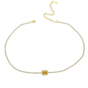 Image 3 - Женское Ожерелье чокер с радужным камнем талисманом