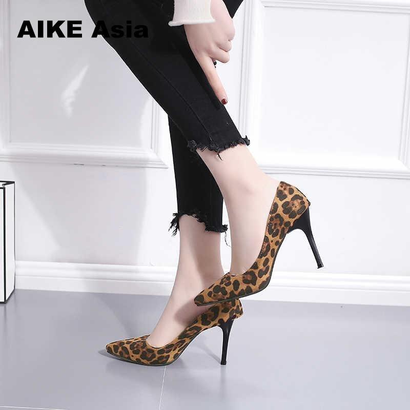Zapatos Talons Luxe Mujer Zèbre Femmes forme Designer Pompes Mince Motif Femme brown Chaussures Beige 2019 Plate Pointu Bout De Léopard aBqZZT8