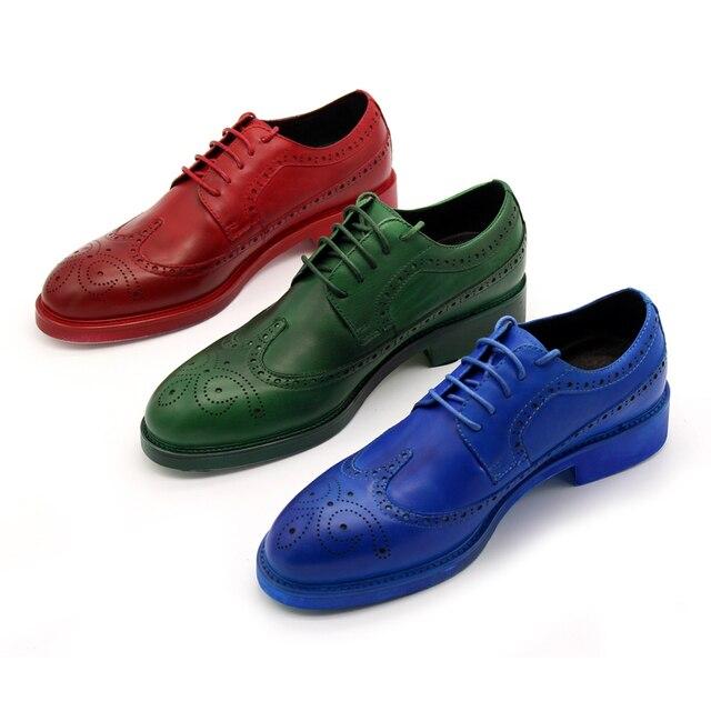 Designer Handmade 2017 Spring New Transparent Men Casual Hip Dyeing light Slip On Retro Brogue Yuppie Shoes