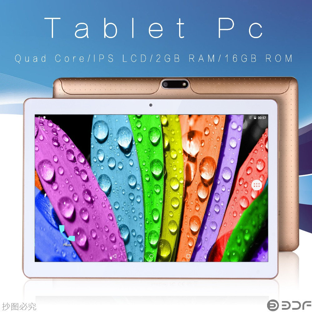 Wholesale android tablet 10 inch - 10 Inch Beautiful Original Design 3g Phone Call 2 Sim Card Android 6 0 Tab Ips Quad