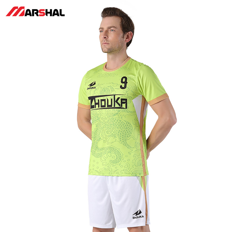 bdc99d05f65 Zhouka Green 2018 2019 Football Jersey Survetement Football Uniform Shirts  Tops Breathable Customized Your Name Soccer Jerseys -in Soccer Sets from  Sports ...