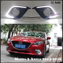 Car Styling DRL para Mazda 3 Axela 2013-2016 Lámpara de Luz de Circulación Diurna Luz Antiniebla Modificados
