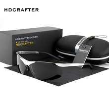 HDCRAFTER Luxury retro 2017 fashion Polarized Sunglasses Men Goggle sun glasses men's sunglasses designer glasses for men shades
