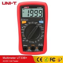 UNI-T Digital Multimeter Manual Range AC DC 200mV~600V Meter 10A Current Tester Resistance Meters AC/DC Volt UT33B+