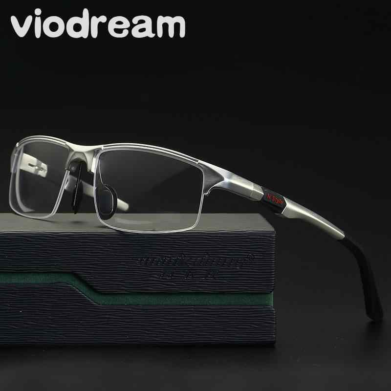 Viodream New Men Sport Aluminum Magnesium Frame Glasses Half Eyeglasses Frames Prescription Eyewear Optical Glasses Frame Oculos