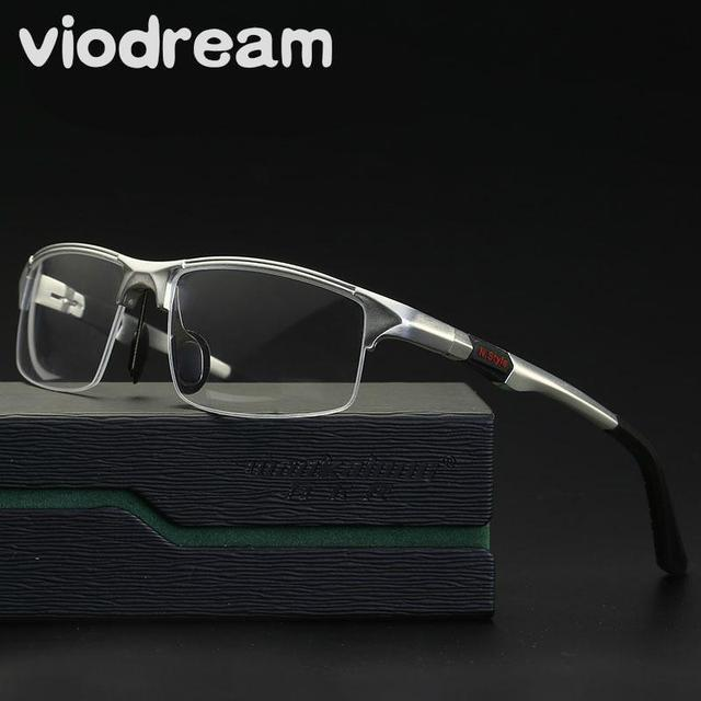 b5da52082f Viodream New Men Sport Aluminum Magnesium Frame Glasses Half Eyeglasses  Frames Prescription Eyewear Optical Glasses Frame Oculos