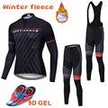 NW 2019 Tenere In caldo Cycling Team Inverno Polare Abbigliamento Manica Lunga da Uomo Jersey Set attività all'aria aperta Bici Northwave set