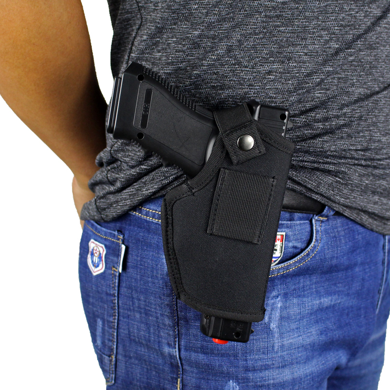 Hunting Concealed Belt Holster Tactical Pistol Bags Waistband IWB OWB Gun Holster fits Subcompact to Large Handguns