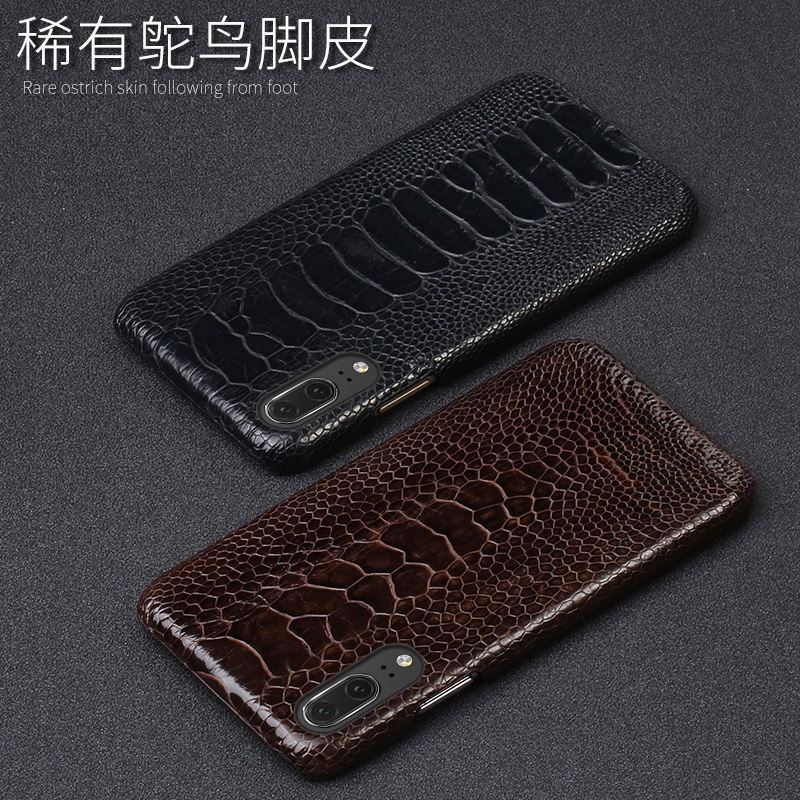 Phone Case For Huawei P20 P30 Lite Mate 10 20 lite Pro Y6 Y9 P Smart 2019 Real Ostrich Foot Case For Honor 7X 7A 8X 9 10 lite - 5