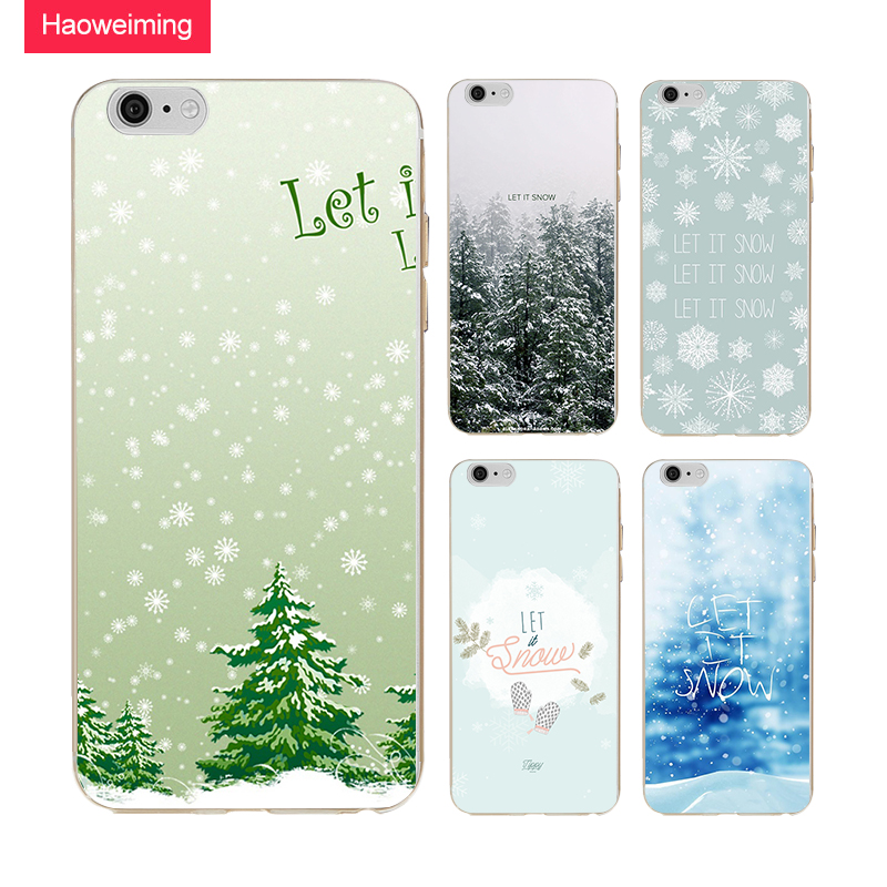 Haoweiming Let It Snow Soft TPU Silicone Case Cover For Apple iphone 4 4s 5 5s SE 6 6s 7 8 Plus X H678
