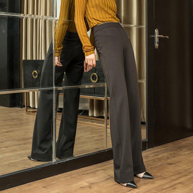 Taille Haute Automne Large Pantalon Pantalons Kelly En Lâche 2019 Streetwear Décontractés Bas Noir Femelle Grande Droit Sac ddwrqxEv5