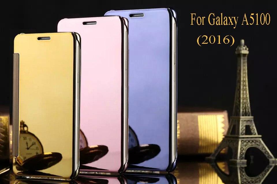 new style b75f9 62296 US $6.99 |Luxury Original Mirror View Window Smart Flip Case Cover sFor  Samsung Galaxy A5100 A510F A5 2016 (5.2