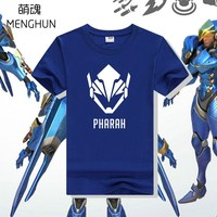 COOL OW GAME Cotton T Shirt Game Character Heroes Pharah T Shirts OW PHARAH Tee Shirt