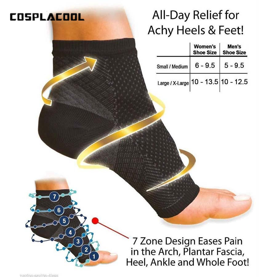 Comfort Foot Anti Fatigue Compression Sleeve Relieve Swelling Varicosity   Socks   Cycle Foot Men Women Athletics   Socks   (S/M,L/XL)