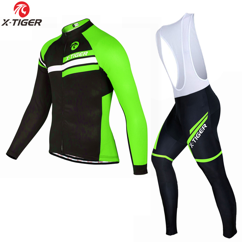 X-Tiger 2017 Thermal Fleece Cycling Jersey Set Winter Bike Wear Maillot Ropa Ciclismo Invierno Hombre MTB Bicycle Clothing veobike cycling jersey ciclismo 2017 pro team 8 style men s winter long sleeve bike set mtb bicycle wear ropa ciclismo invierno