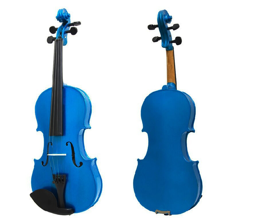 Blue Violin 4/4 1/4 3/4 1/2 1/8 Size Available Violin in Full Set with Bow Rosin and Case Colorful Violins Many Colors Available beautiful blue violin 4 4 1 4 3 4 1 2 1 8 size available violin full set with bow rosin bridge case colorful violins available