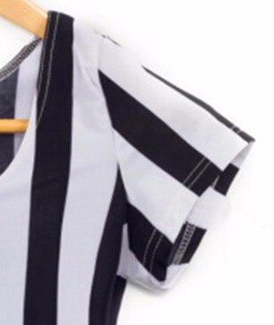 X-089, новинка, вертикальный принт с полосками зебры, короткий топ с рукавом-крылышком, Летние черные и белые полосатые футболки, сексуальные, Размеры s m l xl