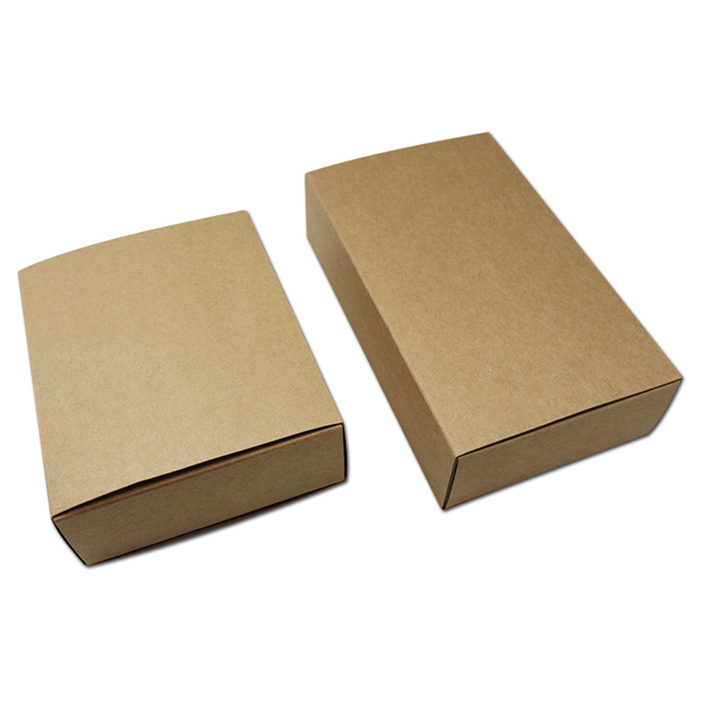 10pcs Lot Brown Kraft Paper Packaging Boxes With Drawer