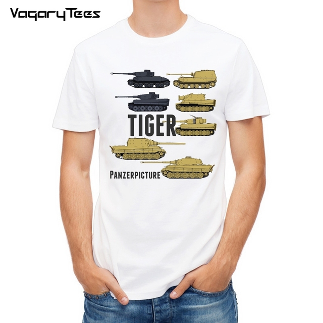Military Army Tiger Tank T Shirt Top Casual Men New Design High Quality