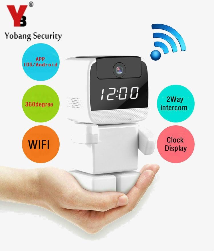 Yobang Security 960P 360 Degree Mini Robot Wifi Wireless P2P Network IP Camera Home Surveillance Security System wifi camera цена