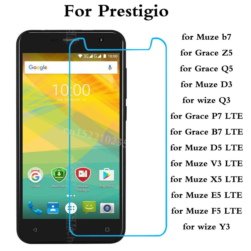 Tempered Glass For Prestigio Muze B7 D3 D5 V3 X5 E5 F5 LTE Wize Y3 Q3 Grace Z5 Q5 P7 B7 LTE Explosion-proof Protective Film