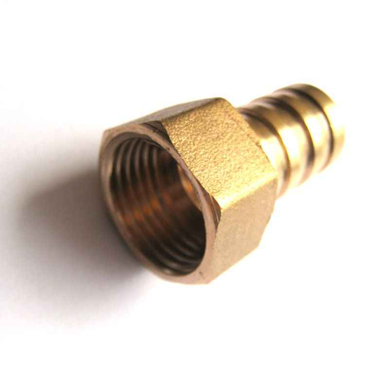 10mm to 3/8'' BSP Female Thread Copper Pagoda Joint Adapter PCF10-03 Brass Pipe Connector Quick Plug for Gas Air Tube