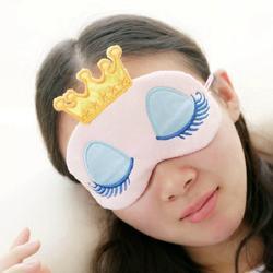 Tragbare Reizende Nette Baumwolle Lange Wimpern Crown Stil Eye Shade Schlafen Augen Maske Schlaf & Schnarchen