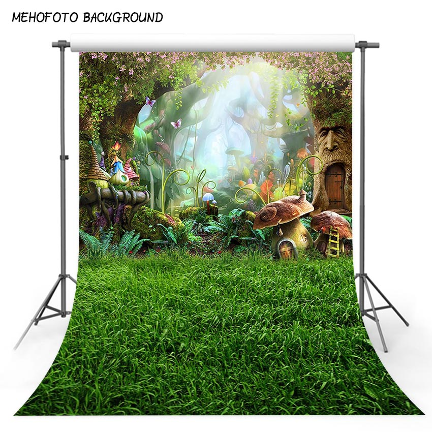 5X7ft Art fabric photography backdrops fairy tale dreamlike nature forest backdrop vinyl fotografia backgrounds for photo studio horizontal art fabric party photography backdrops fairy tale stairs photo background for portrait xt 3856