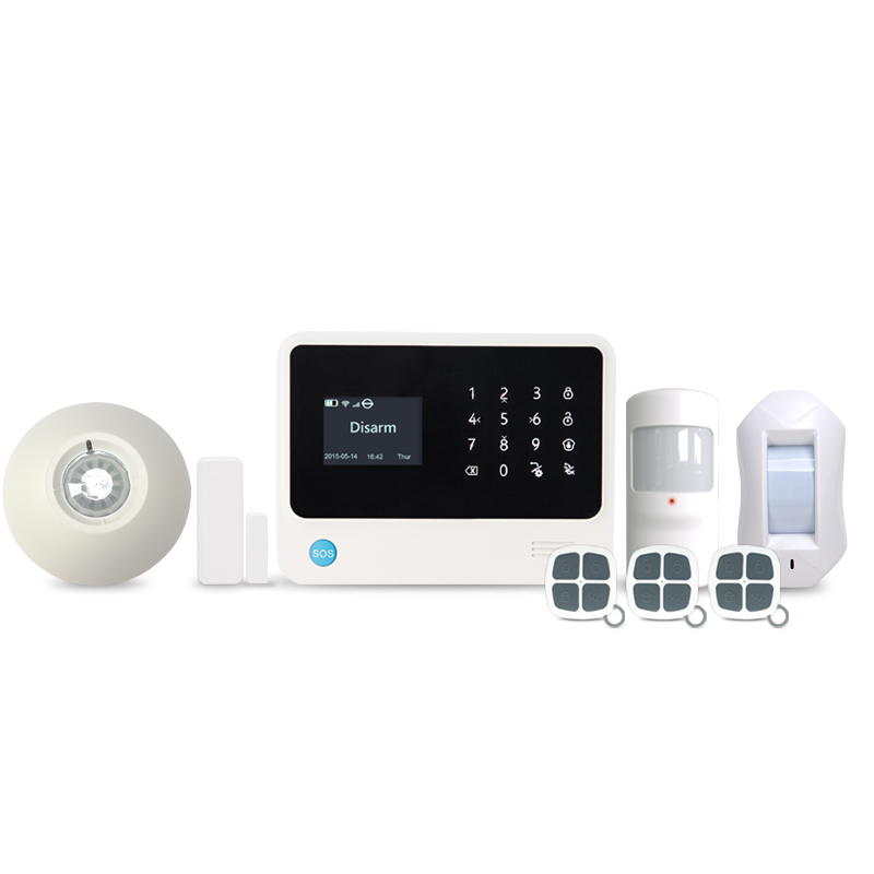 433MHz Spanish voice prompt smart home wifi GSM font b alarm b font system with Spanish