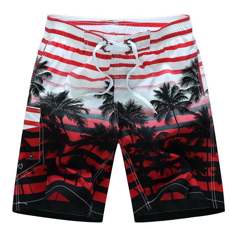 2019 nieuwe zomer hot mannen strandshorts sneldrogende kokospalm gedrukt elastische taille 4 kleuren M-6XL drop verzending AYG219