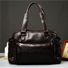 Outdoor Mens Sports Bags Fitness Bag Soft PU Bromn Black Handbag New Style Popular Leather Crossbody Big Capacity Travel