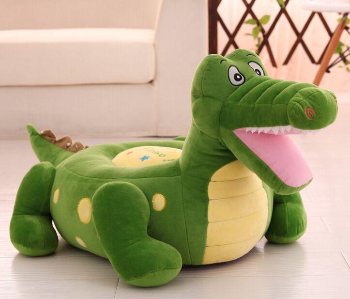 Nouveau canapé en peluche dessin animé crocodile jouet en peluche vert crocodile canapé siège environ 50x45 cm 1393