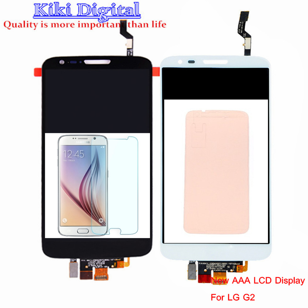 WOJOQ Original Quality LCD For LG G2 D802 D805 LCD Display Touch Screen Digitizer Assembly with glue Replacement Free shipping