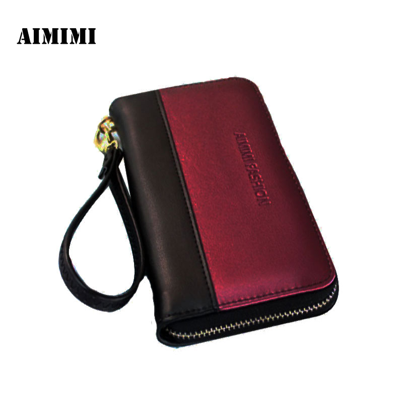 Wallet female 2017 New fashion brand purse wallet women panelled clutch purse; coin pouch Carteira pouch