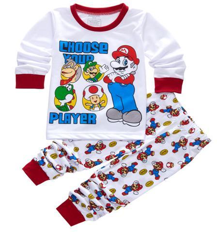 5c2aba189c New kids pijama infantil sleepwear home clothing cartoon cotton Baby pijama  2-7Y kids girls boys pajamas sets Mario pyjamas