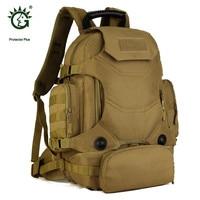 Protector Plus Military Backpack Men 40L Waterproof Backpack Tourist Camouflage Bag Wear resisting 14 inch Laptop Bag P013