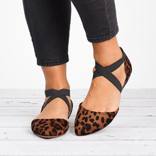 Women Ladies Fashion Pointed Toe Flat Heels Buckle Elastic Band Sandals Leopard Casual Sandals Single Shoes Sandalias Mujer P25 недорого