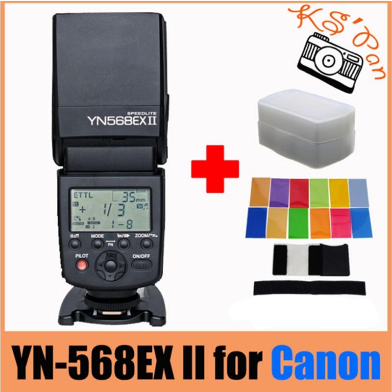 Yongnuo YN-568EX II for Canon Master HSS ETTL Flash Speedlite for 5DIII 5DII 5D 7D 60D 50D 650D 600D 550D + 12 Pcs Color Cards yongnuo yn 560iv yn560 iv flash speedlite for canon eos 5d mark ii iii 7d 5d 50d 40d 500d 550d 600d 650d 1000d 1100d 450d 400d