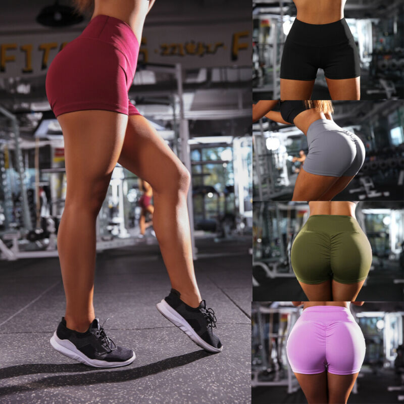 Women Short Ladies Summer Casual Push Up Fitness Skinny Shorts Running Gym Stretch Sports Short Pants 2019 New