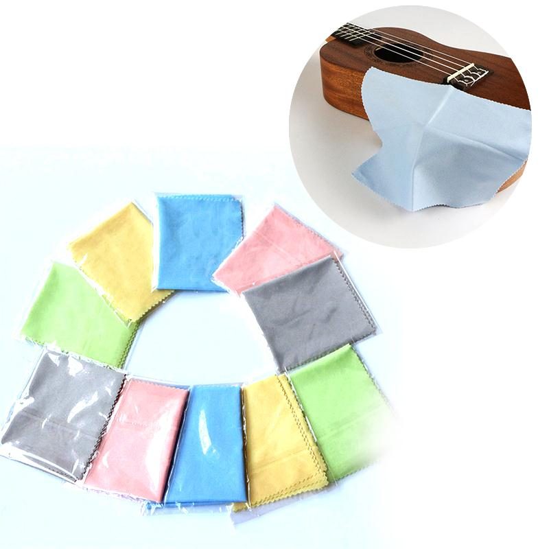 1pcs Microfiber Cleaning Polishing Polish Cloth for Musical Instrument Guitar Violin Piano Clarinet Trumpet Universal