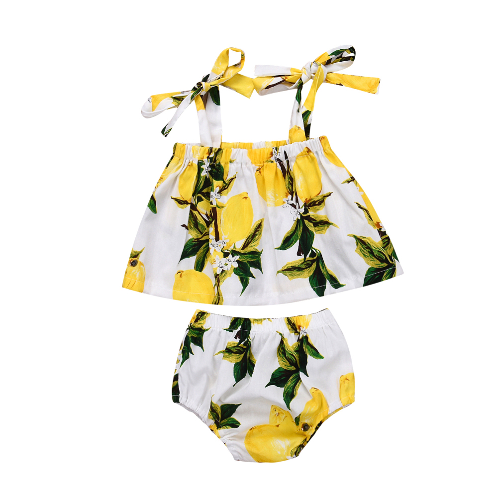 Newborn Baby Girl Floral Crop Top T-shirt Shorts Briefs Outfit Clothes Summer Baby Sunsuits 2018 New Sale