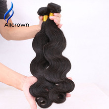 Alicrown Hair Body Wave 1 Piece Remy Human Hair Bundles Brazlian Human Hair Natural Color Hair Weave Double Weft Shipping Free