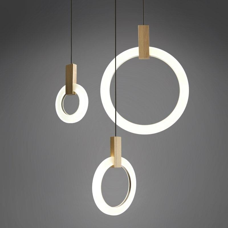 Современный подвесной светильник для лобби Обеденная одно кольцо искусство украшения освещения Античное золото подвеска лампа