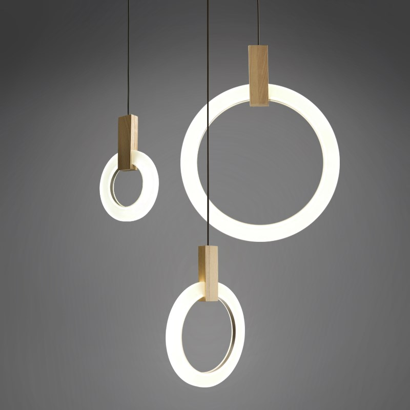 Modern Pendant Light For Lobby Dining Room single ring Arts Decoration lighting Antique Gold suspension Pendant Lamp