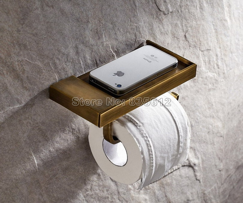 2016 bathroom accessories antique bronze finish toilet Creative toilet paper holder